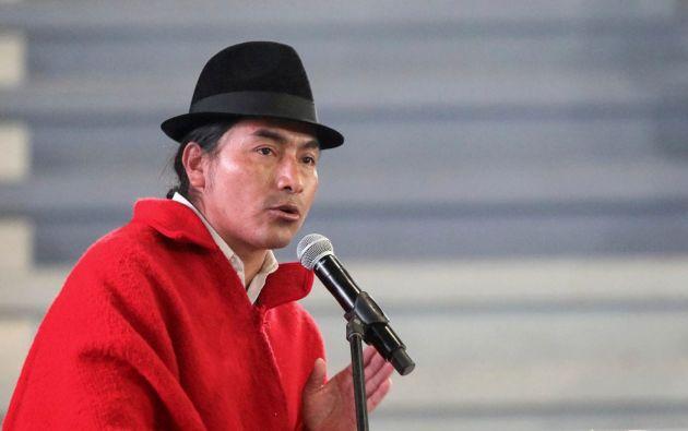 Iza preside el Movimiento Indígena y Campesino de la provincia de Cotopaxi.