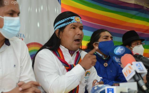 Yaku Pérez llamó caudillo a Jaime Vargas por apoyar a Andrés Arauz.