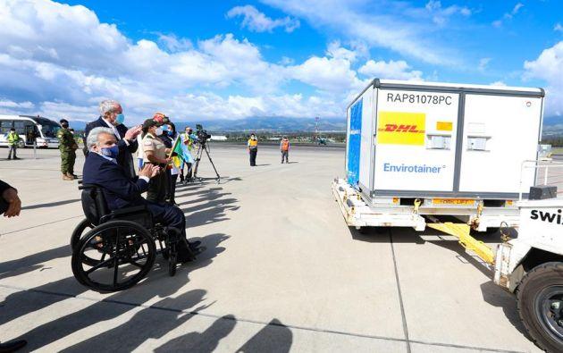 Moreno envió un efusivo agradecimiento al presidente de China, Xi Jinping, por haber agilizado el envío de las vacunas. Foto: EFE