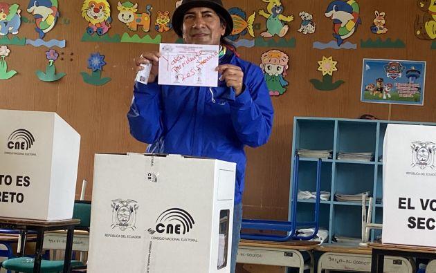 Yaku Pérez pidió a sus seguidores depositar un voto nulo en protesta por lo que consideró un fraude electoral en la anterior ronda del 7 de febrero.
