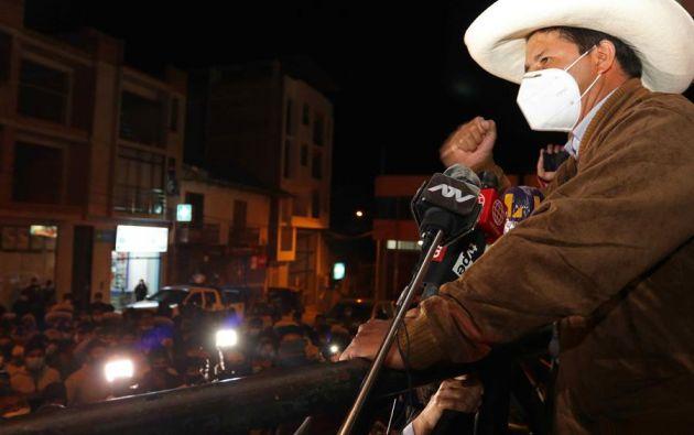 El candidato a la presidencia de Perú Pedro Castillo, del partido Perú Libre. Foto: EFE
