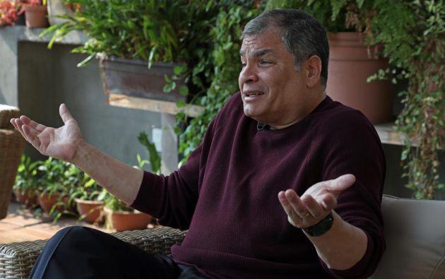 """""""Somos de largo la mayor fuerza política del país"""", dijo Correa. Foto: EFE"""