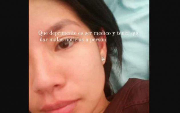 Una de los mensajes que compartió Tatiana Calderón en sus redes sociales.