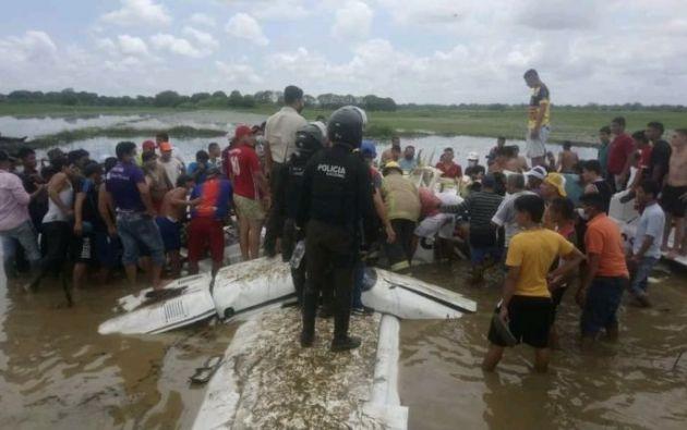 La Piper había despegado el martes a mediodía desde Guayaquil con destino a Nueva Loja. Foto: Cortesía