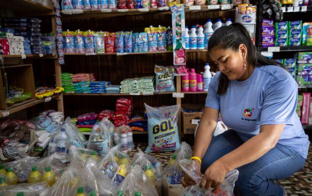 Emprendedora del programa Re-Emprende Ecuador.