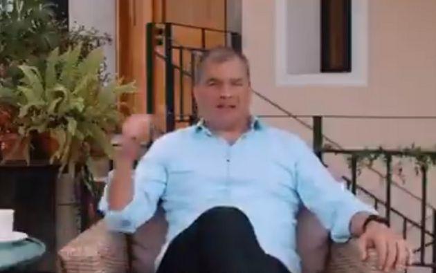 """""""El éxito de Lasso, es el éxito del país"""", ha manifestado el exmandatario. Foto: captura de video"""