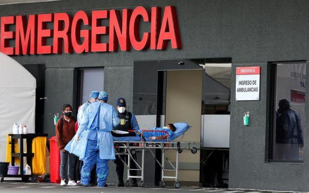 Al momento están hospitalizadas 1.334 personas, de las cuales 635 tienen pronóstico reservado. Foto: EFE