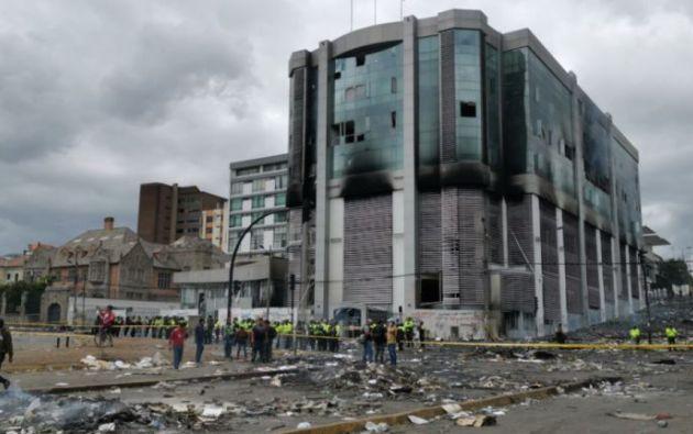 """""""Cuando fue el incendio yo fungía como Secretaria General, yo le puedo dar fe de lo que se quemó"""", manifestó Zárate. Foto: archivo"""