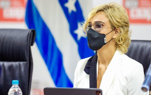 Cynthia Viteri, alcaldesa de Guayaquil, solicitó licencia sin sueldo. Foto: @CynthiaViteri6
