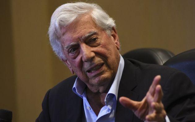 Mario Vargas Llosa, premio Nobel de Literatura y político peruano. Foto: AFP.
