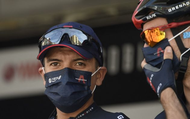 Richard Carapaz, ciclista carchense. Foto: AFP.