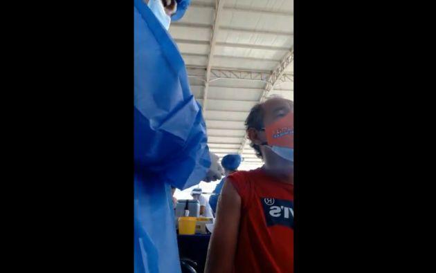 Captura del video con el que se denunció a enfermero ante el ministro de Salud.