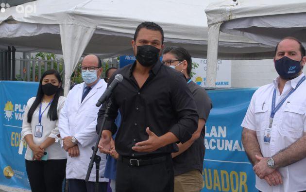 El vicealcalde de Guayaquil, Josúe Sánchez, dio detalles del informe. Foto: API