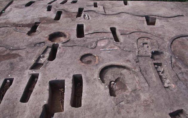 5 tumbas del período Naqada III (3200-3000 a.C.) y otras 37 que datan del segundo período intermedio del Antiguo Egipto. Foto: Milenio.
