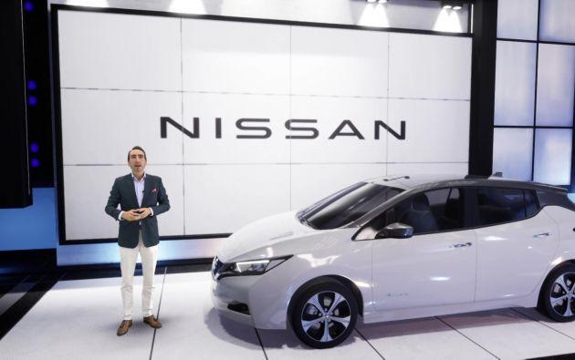 Miguel Aguirre, director comercial de Nissan, en el lanzamiento del Nissan LEAF.