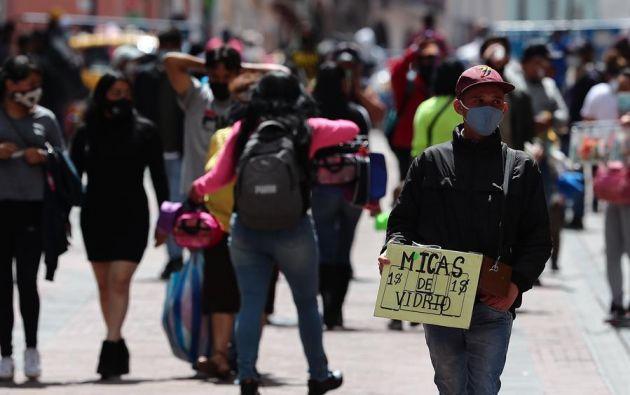 Quito es la ciudad con más casos de covid-19. Foto: EFE.