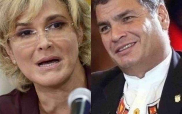 Correa envía mensaje a la alcaldesa de Guayaquil.