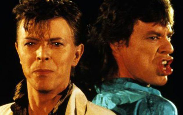David Bowie y Mick Jagger