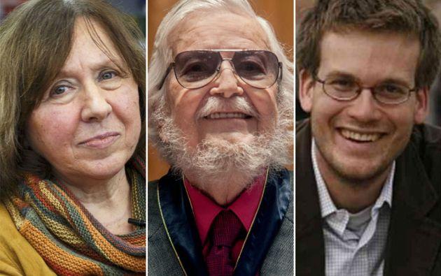 Svetlana Alexievich, Fernando Del Paso y John Green.