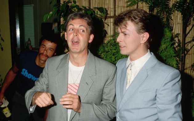 Paul McCartney y David Bowie.