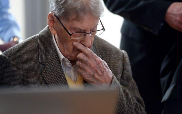Reinhold Hanning, de 94 años, comparece desde este jueves. Foto: Agencia AFP