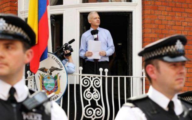 Assange tiene tres años refugiado en la Embajada ecuatoriana. Foto: archivo