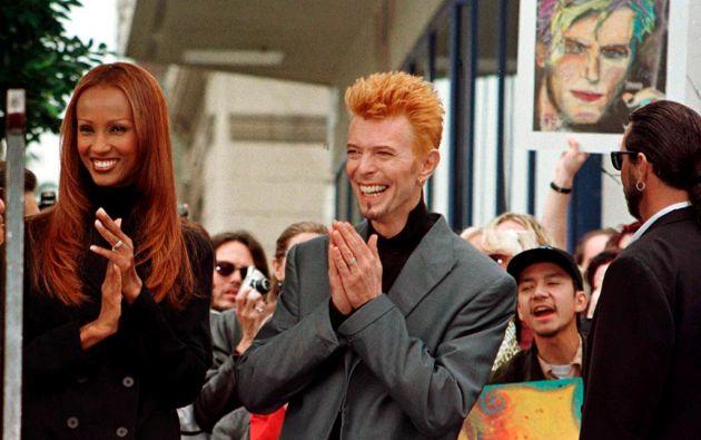 David Bowie junto a su viuda, Iman. Foto: Reuters