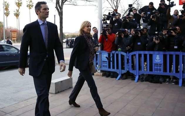 Iñaki Urdangarín y Cristina de Borbón. Foto: Reuters