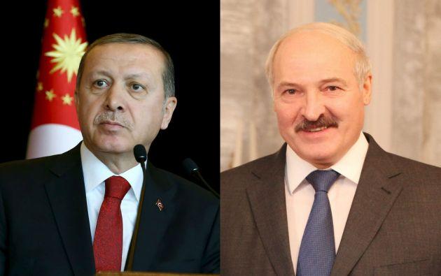 Recep Tayyip Erdogan y Aleksandr Lukashenko, presidentes de Turquía y Bielorrusia, respectivamente.