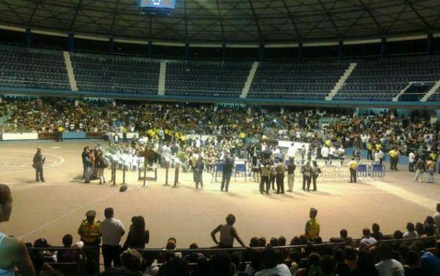 El sepelio de Guayaquil se realizó en el Coliseo Voltaire Paladines Polo.