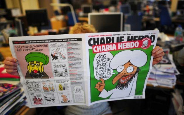 El semanario era conocido por la publicación de controvertidas caricaturas. Foto: AFP