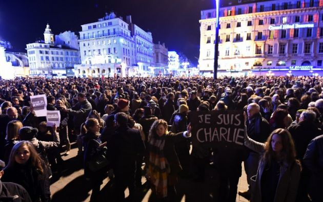La plaza estaba repleta de persona. Foto: AFP