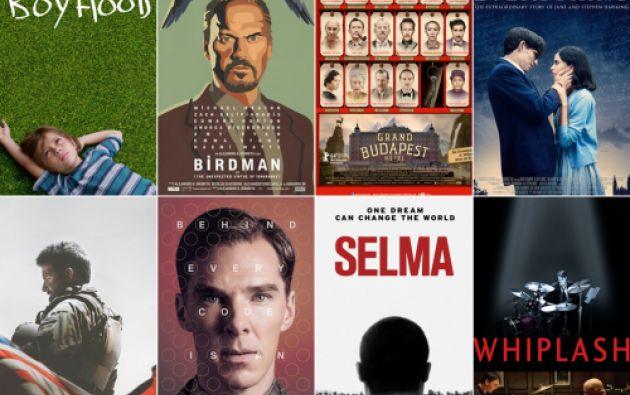 Ocho películas competirán por la estatuilla a mejor película.