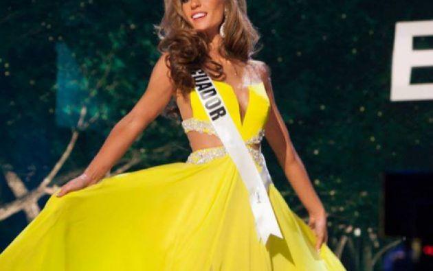 Alejandra en la noche de la preliminar. Foto: Facebook / Miss Ecuador