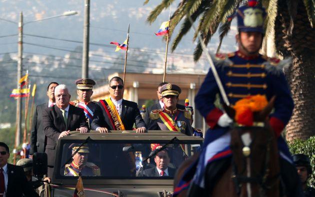 La llegada del presidente Rafael Correa. Foto: Flickr / Presidencia de la República.