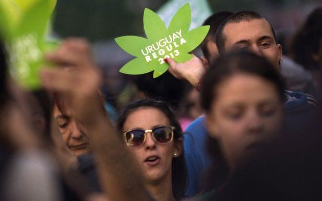 Uruguay legalizó la marihuana a finales de 2013. Foto: AFP