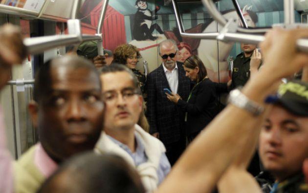 """Botero asistió al viaje inaugural del """"Tren de la Cultura"""". Foto: REUTERS"""
