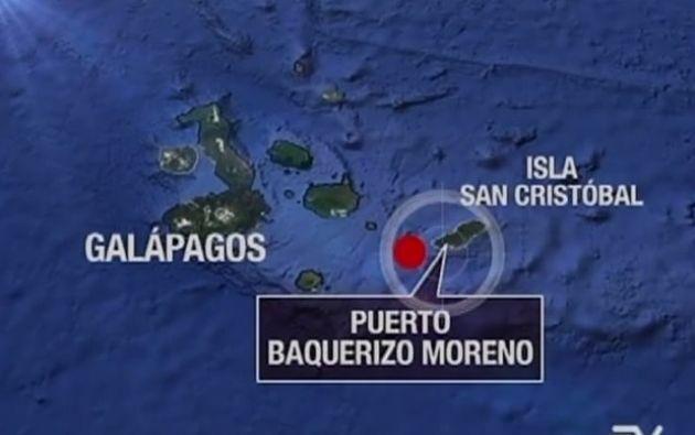 Lugar donde el buque se encuentra encallado.