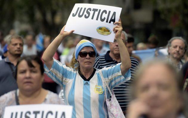 Las personas clamaron por justicia. Foto: AFP