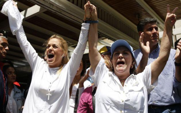 Las esposas de los presos políticos. Foto: REUTERS