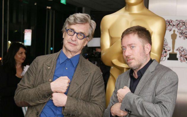 """Win Wenders y Juliano Ribeiro Salgado, directores del documental """"La sal de la tierra"""". Foto: REUTERS"""
