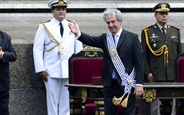 Presidente Tabaré Vásquez. Foto: AFP