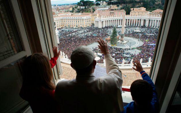 """""""Los niños y los ancianos construyen el futuro de los pueblos"""", señaló el papa Francisco."""