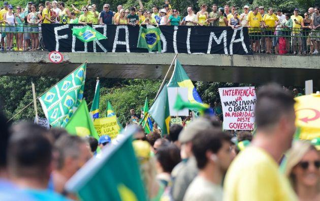 Según estimaciones de la Policía, en Sao Paulo salieron a protestar cerca de un millón de personas. Foto: AFP