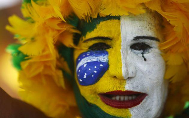 Los manifestantes lucieron colores verde y amarillo, como la bandera. Foto: REUTERS