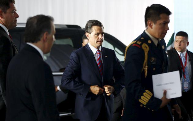 Llegada de Enrique Peña Nieto, presidente de México. Foto: AFP