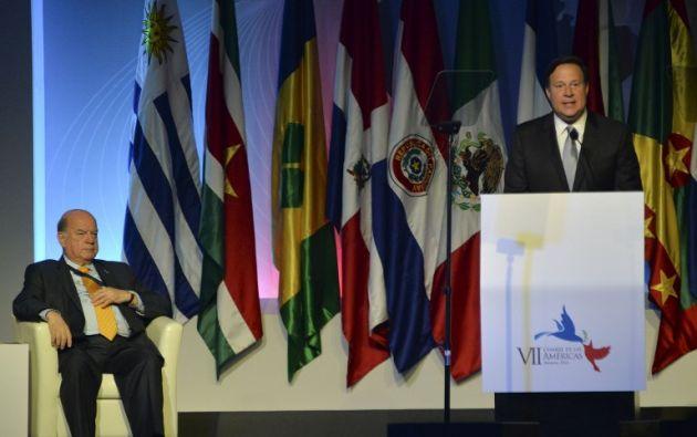 Juan Carlos Varela, presidente de Panamá, el anfitrión. Foto: AFP