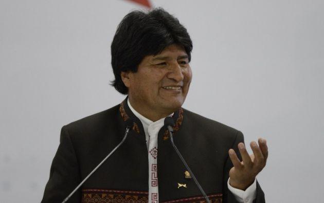 Evo Morales, de Bolivia. Foto: AFP