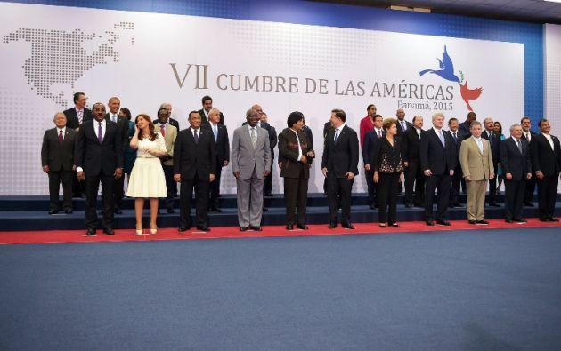 Foto oficial de los mandatarios. AFP