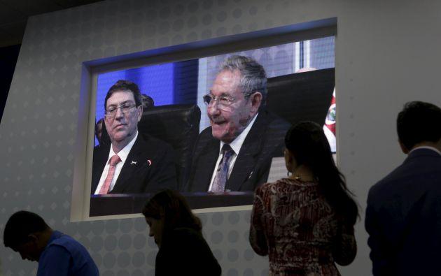 El discurso de Raúl Castro llenó de ovación la sala. Foto: REUTERS